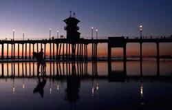 Терпение - серфер захода солнца Стоковая Фотография RF
