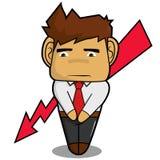 Терпеть неудачу бизнесмена Стоковое Фото