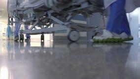 Терпеливый транспорт в больнице видеоматериал