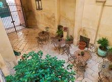 Терраса в дворе дворца в стиле барокко южной Италии Стоковое Изображение
