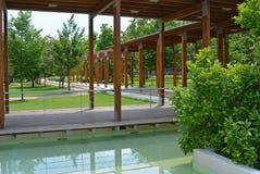 Терраса в парке, Podebrady, чехии Стоковое фото RF