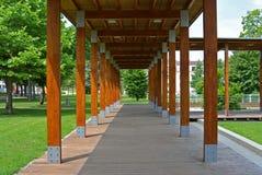 Терраса в парке, Podebrady, чехии Стоковая Фотография RF