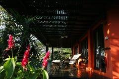 терраса дома Стоковая Фотография