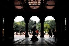 Терраса и фонтан Bethesda в Central Park, NYC Стоковое Изображение RF