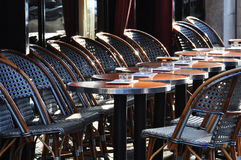 терраса кафа парижская Стоковые Фото