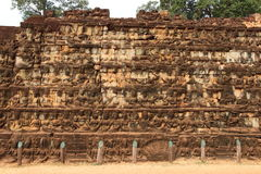 Терраса короля Leper, Angkor Thom Стоковое фото RF