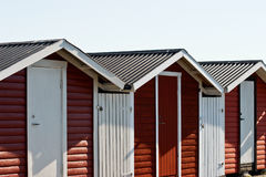 терраса красного цвета дома стоковая фотография