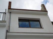 Терраса на крыше без прокладывать рельсы стоковое изображение rf