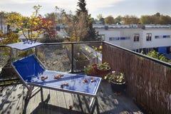Терраса на крыше в осени стоковые фотографии rf