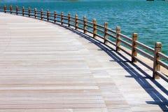 Терраса на озере Стоковые Фото