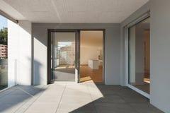Терраса новой квартиры Стоковое Фото
