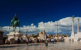 Терраса памятника Vittoriano Стоковые Фото