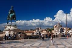 Терраса памятника Vittoriano Стоковое фото RF