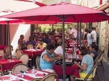Терраса ресторана в Аяччо Стоковое Изображение