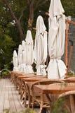 Терраса ресторана лета Стоковое фото RF