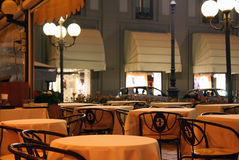 терраса ресторана ночи Стоковое Изображение