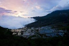 Терраса риса Yuanyang Стоковое Изображение