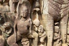 терраса сбросов слонов bas angkor Стоковая Фотография RF