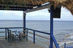 Терраса с взглядом моря стоковая фотография rf