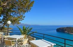 Терраса с видом на море стоковое фото