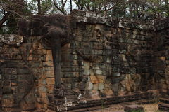 Терраса слонов, Angkor Thom Стоковые Изображения