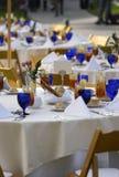 терраса таблиц гостиницы напольная Стоковая Фотография RF