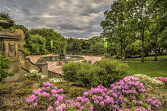 Терраса Central Park Bethesda, Нью-Йорк Стоковое Изображение RF