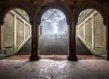Терраса Central Park Bethesda, Нью-Йорк Стоковое Фото