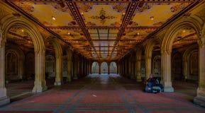 Терраса Central Park Bethesda стоковая фотография rf