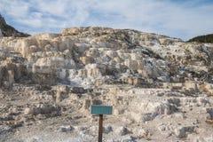 Терраса Minerva в национальном парке Йеллоустона стоковые фото