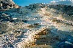 терраса yellowstone minerva стоковые фотографии rf