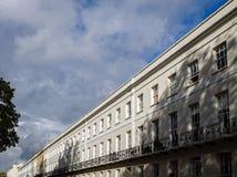 Террасное здание в Челтенхеме, Англии Стоковая Фотография