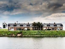 Террасные дома рабочего класса в Нидерландах Стоковая Фотография RF