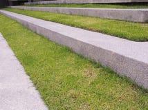 Террасы засаженные травой стоковые изображения