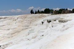 Террасы травертина Pamukkale, Турция Стоковая Фотография