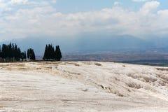 Террасы травертина Pamukkale, Турция Стоковые Фотографии RF