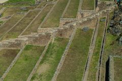 Террасы inca аграрные в Ollantaytambo стоковое фото