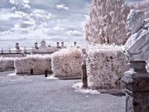 Территория farmstead Kuskovo улицы фото moscow города зоны ультракрасные стоковая фотография rf