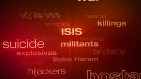Терроризм формулирует петлю бесплатная иллюстрация