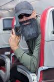 Террорист в воздушном судне летания Стоковое фото RF