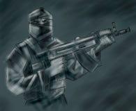 террорист иллюстрация штока