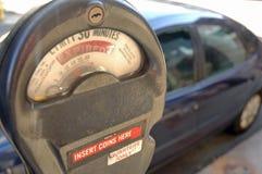 терянная силу стоянка автомобилей метра Стоковое фото RF