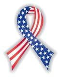 тесемка американского флага ровная Стоковое Изображение RF