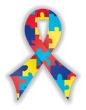 тесемка аутизма ровная Стоковая Фотография RF