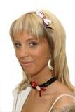 тесемка волос девушки рака молочной железы Стоковое Изображение RF