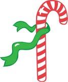 тесемка зеленого цвета тросточки конфеты Стоковое Фото