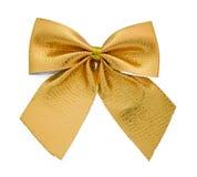 тесемка золота подарка смычка Стоковое Фото