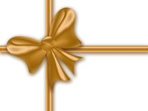 тесемка золота подарка Стоковое Изображение