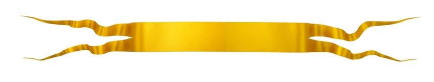 Тесемка золота элегантности Стоковая Фотография