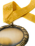 тесемка золотой медали Стоковые Изображения